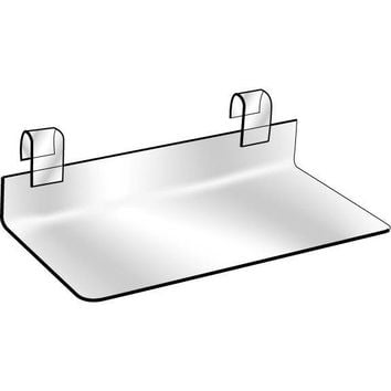 "AF-037 4"" x 10"" Clear Lucite Gridwall Shoe Shelf"