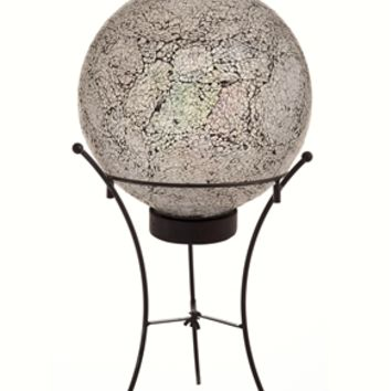Ice Mosaic Solar Gazing Ball with Stand