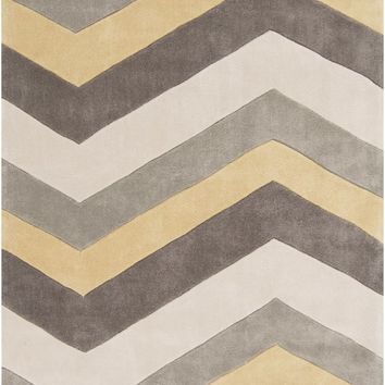 Cosmopolitan Geometric Area Rug Yellow, Gray