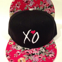 XO THE WEEKND Drake Owl ovoxo flower print brim  one size fits all