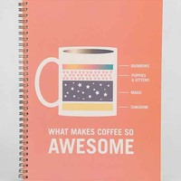 Coffee Spiral Notebook- Stone One