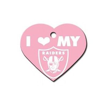 Oakland Raiders Heart ID Tag