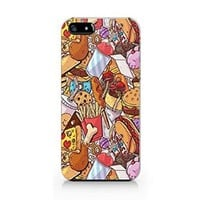 Fast Food Iphone 5C Case, Iphone 5C Case Plastic Hard White Case Unique Design-Quindyshop