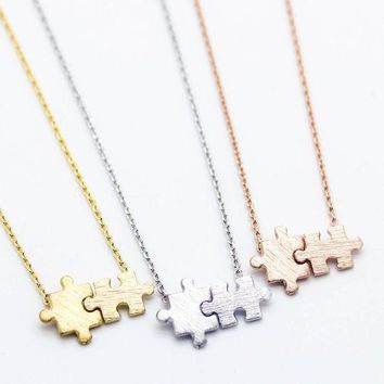 MDIGON1O Day First Puzzle pieces necklace