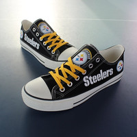 Pittsburgh Steelers Canvas Sneakers