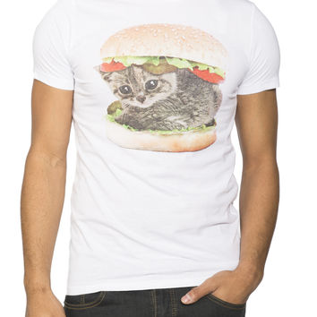 Guys 'Cat Hamburger' Graphic Tee