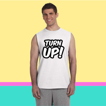 Turn up Sleeveless T-shirt