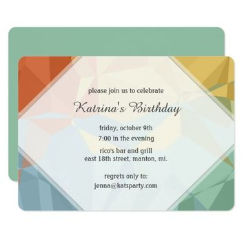 Geo Fractal Birthday Party Invitation