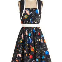 Bea & Dot Cosmic Sleeveless A-line You're Out of this World Dress