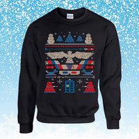 Doctor Who Ugly Christmas Sweater sweatshirt unisex adults
