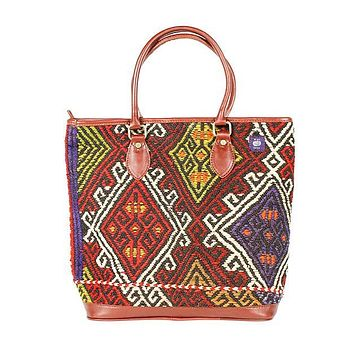 Kilim Tote Bag in Diamond Crimson by Res Ipsa