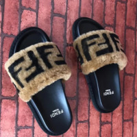FENDI Fashion Women Sandal Slipper Shoes