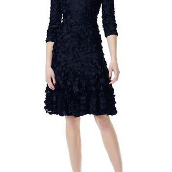 Theia Beaded Appliqué Fit & Flare Dress   Nordstrom