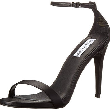 Steve Madden Women's Stecy Dress Sandal heels nude in black