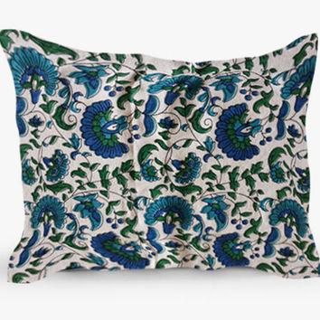 12x18 Decorative Block Print Throw Pillow cover in Indian Cotton Fabric Home Decor Sofa Accent Pillows Pillow Cover Cushion Cover