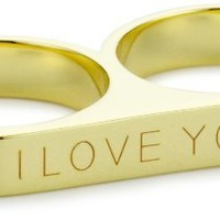 "Beyond Rings ""I Love You"" 2 Finger Word Ring, Size 7"