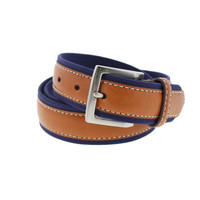 Tommy Bahama Mens Genuine Leather Contrast Trim Casual Belt