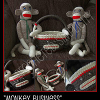 "Crochet Pattern: ""Monkey Business"" Easter Basket, Permission to Sell Finished Items"