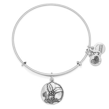 Alex and Ani Holly Charm Bangle - Rafaelian Silver Finish