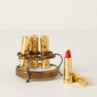 Round Vestige Lipstick Holder by Anthropologie Bronze One Size Vests