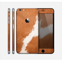 The Real Brown Cow Coat Texture Skin for the Apple iPhone 6 Plus
