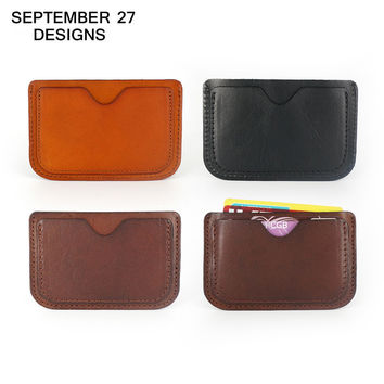 2017 Genuine Leather Card & ID Holders Case Ultra Thin Business Card Package Slim Credit Card Holder Organizer Manager For Men