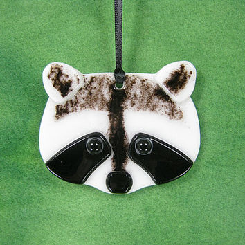 Raccoon Suncatcher, Wildlife Suncatcher, Animal Art