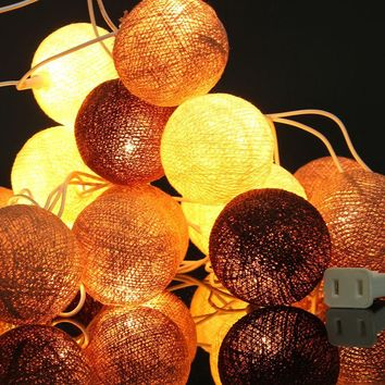 Mising Cotton Balls LED String Fairy Light Wedding 20 Led String Lights Party Patio Christmas Decor