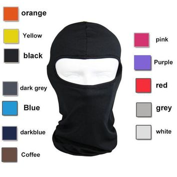 DCCKU62 Lycra Balaclava Face Mask Ultra Thin Motorcycle Bike Winter Mask Cycling Ski Neck Gaiter Outdoor Dustproof Windproof Mask