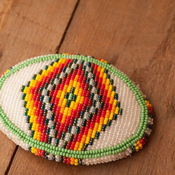Native American Beaded Belt Buckle
