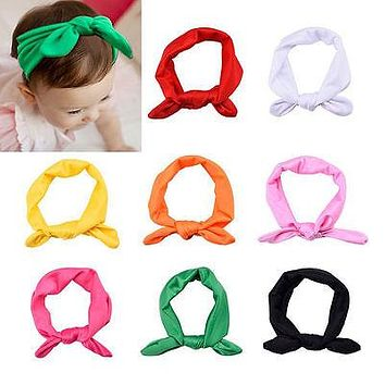 10 color Fashion Colorful Baby Girls Lovely Hair Bow Tie Bands NewBorn Ribbon Headbands