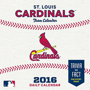 MLB Officially Licensed St. Louis Cardinals 2016 Team Desk Calendar