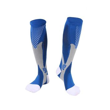 Men's Compression Socks Firm Pressure Circulation Quality Knee High Orthopedic Support Stocking Hose Sock