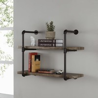 Danya B. Two-tier Industrial Pipe Wall Shelf | Overstock.com Shopping - The Best Deals on Accent Pieces