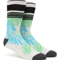 On The Byas Leave Lines Crew Socks - Mens Socks - Green - One