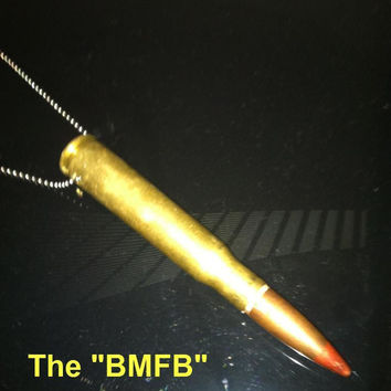 "The ""BMFB"" 50 Caliber Rear-View Mirror Bullet"