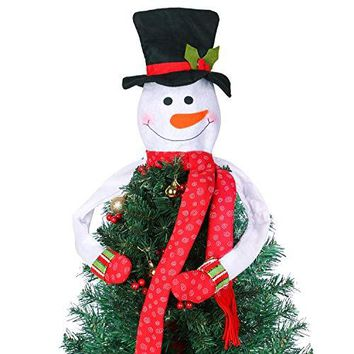 Christmas Tree Toppers Decorations-Perfect for Holiday/Winter Wonderland Party Decoration Ornament Supplies