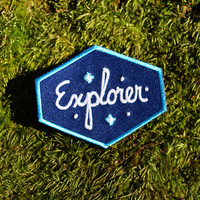 Explorer Patch - Glow in the dark Iron-on Outer Space Patch
