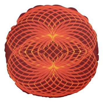 Symmetric pattern round pillow