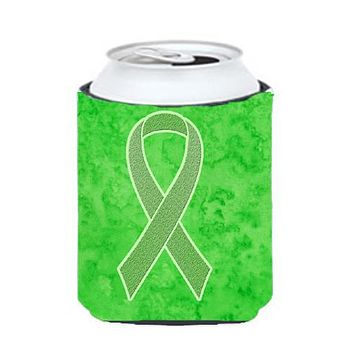 Lime Green Ribbon for Lymphoma Cancer Awareness Can or Bottle Hugger AN1212CC