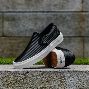 spbest Vans Classic Slip-On Moto Leather VA38F7OGG