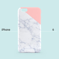 iPhone 6 case - Indian pink edge of a marble - iPhone 6 case, iPhone 6 Plus case, iPhone 5s case, iPhone 5 case, iPhone 4s case non-glossy