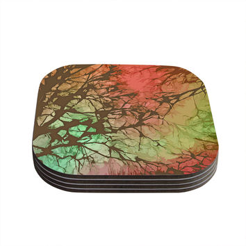 "Alison Coxon ""Fire Skies"" Coasters (Set of 4)"