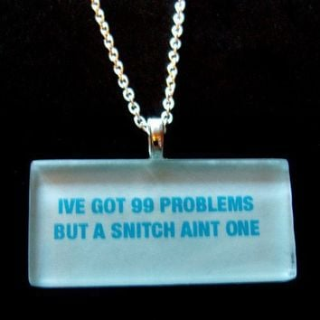 But a Snitch Ain't One Necklace by trophies on Etsy