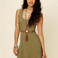 Free People Solid Texture Fit-n-Flare Dress at Free People Clothing Boutique