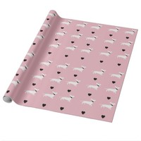 Chic Dachshund Pattern Pink Wrapping