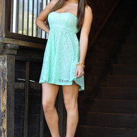 Let's Seize The Day Dress: Light Spearmint | Hope's