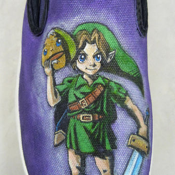 Custom Hand Painted Shoes-Legend of Zelda-Majora's Mask