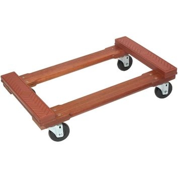 Monster Trucks Wood 4-wheel Piano Rubber-cap Dolly