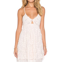 Free People Nicolette Lace Dress in Pale Pink